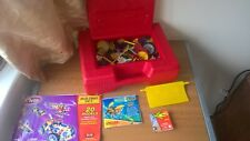 Knex large Bundle with Red Case and Various Building Instructions Booklets