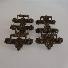 6 poignées bronze cuivre ornement mobilier XVIIIe France authentique vintage