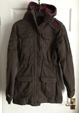 Superdry Womens Warm Brown Removable Hood Coat Size S