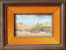 Antique 1900s Landscape Cape Province South Africa Miniature Oil Painting dlb