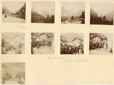 France, au Simplon, 1898 Vintage silver print Tirage argentique  16x20  Ci