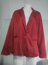 Ladies Jacket in a Cherry Red Velour Type Fabric Size No Tag