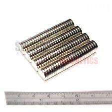 100 Muy Fuerte Imanes De Neodimio Disco 10x2 mm N52 pequeño imán 10mm diámetro x 2mm