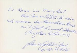 HELMUT GOLLWITZER --- original signiert - A3#16a