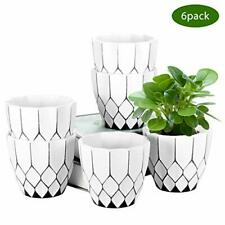 New ListingZoutog Succulent Pots, 4.5 Inch Decorative Planters, Small Flower Pots for Plant