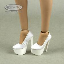1/6 Phicen TBLeague Flirty Girl Sexy Female White High Platform High Heel Shoes