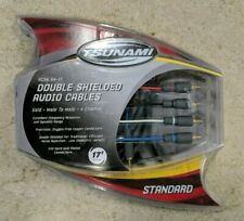 Tsunami Double Shielded 17 foot 4 Channel RCA Audio Cables 24K Monster