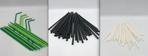 BIODEGRADABLE PLASTIC STRAWS COCKTAIL STRAWS   5mm or 6mm ECO FRIENDLY STRAWS