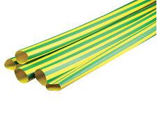 Various Sizes & Lengths Green/Yellow Heat Shrink Tube Sleeving Wrap Heatshrink