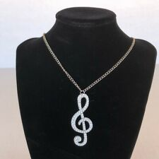 Music Note Necklace Costume Jewelry