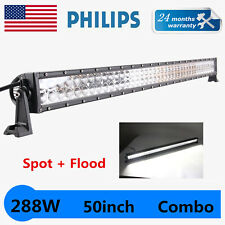PHILIPS 50inch 288W LED Work Light Bar Combo Offroad Driving Truck SUV S&F 52/54