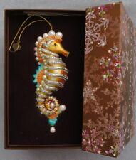 Jay Strongwater Oceana Jeweled Seahorse Ornament Swarovski Elements New in Box