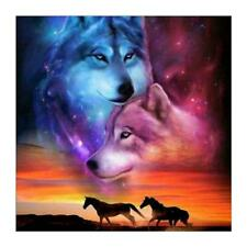 Wolf 5D Full Drill Diamond Painting Embroidery DIY Cross Stitch Kit Needlework