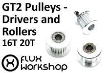 GT2 Pulley Drive Roller Smooth 16 20T 3 5 6 6.35 8 10mm Belt 3D Flux Workshop