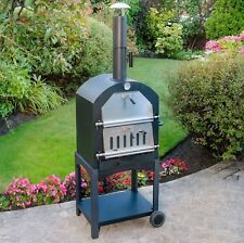multi function portable outdoor garden steel barbecue wood fired pizza oven bbq