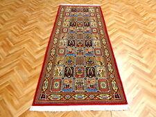 Orientteppich Feiner Teppich mit Seide+Kork Läufer  200x84  Pure Luxus Unikat