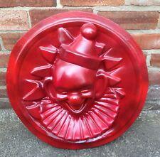 Clown fairground funfair circus hand painted red head vintage tattoo