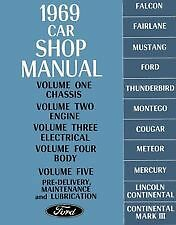 Ford Service Workshop Manual Book 1969 69 Falcon Fairlane Thunderbird Mercury GT