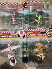🔥Hot Wheels Mario Kart New! Mario Standard Kart~Super Glider~Die-Cast Set All 4