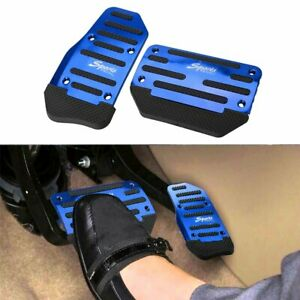 2pcs Universal Non-Slip Automatic Gas Brake Foot Pedal Pad Cover Accessory New