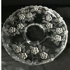 WALTHER GLAS WEST GERMAN VINTAGE CRYSTAL PLATE SERVICE DISH COLLECTIBLE