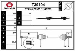 CARDAN POUR PEUGEOT 308 II 1.6 HDI / BLUEHDI 115,1.2 THP 130,1.6 BLUEHDI 120