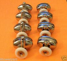 Set of 8 Single Shower Door ROLLERS /Runners /Wheels 23mm in Diameter L077-1