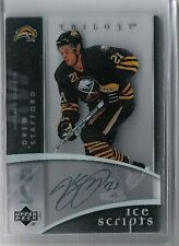 07-08 2007-08 UD TRILOGY DREW STAFFORD AUTOGRAPH ICE SCRIPTS IS-DS SABRES