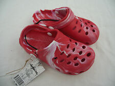 BNWT Little Boys Sz 8 Rivers Doghouse Brand Red Camo Clogs Beach Sandals Shoes