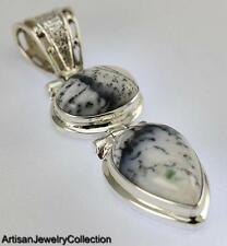 Silver Artisan Jewelry Collection Y095B Dendritic Opal Pendant 925 Sterling