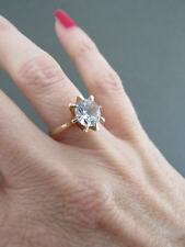 Vintage 14ct Gold Natural Zircon Engagement Ring