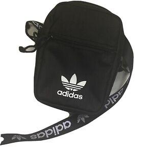 Adidas Originals Festival CrossBody Bag Black/White Messenger Shoulder Strap NWT