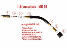 MIG//MAG Brennerhals M20x1,5 Gasdüse Schweißgerät Zubehör Brennerhals+Gasdüse neu