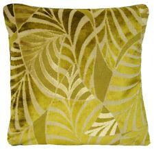 """Green Cushion Cover Osborne & Little Woven Velvet Leaves Fabric Square 16"""""""