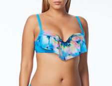 b10628b89a NEW Coco Reef Silent Bloom Underwire Aura Ruffle Bikini Swim Top 36/38 C
