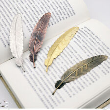 Gold Silver Bronze Vintage Metal Bird Feather Bookmarks For Books Book Markers