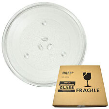 HQRP 10-inch Glass Turntable Tray for Daewoo 3517203600 Microwave Cooking Plate