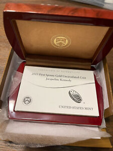 2015-W OGP First Spouse Gold Uncirculated $10  Jacqueline Kennedy Box - No Coin