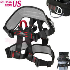 Safety Rock Tree Climbing Rappelling Harness Seat Sitting Bust Belt Half Body US