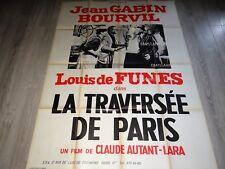 bourvil gabin LA TRAVERSEE DE PARIS rare affiche cinema modele louis de funes