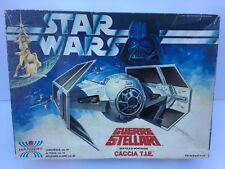 Star Wars Vintage Harbert Darth Vader Tie Fighter Italian Model Kit RARE