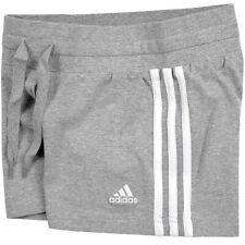 Adidas ESS 3S Knit Short's Damen kurze Hose Freizeit Sport Hot Pant's grau/weiss