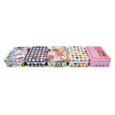 Mini Tin Metal Container Small Rectangle Lovely Storage Box Case Pattern FT