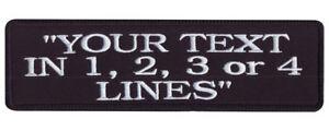 """Large Rectangular 5"""" to 9"""" in Black Personalized Embroidered Name Text Tag Patch"""