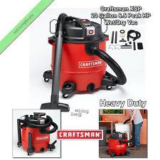 Craftsman Wet Dry Vac XSP 20 Gallon 6.5 Peak HP Heavy Duty Vacuum Portable Vacs