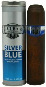 Cuba Silver Blue By Cuba cologne for men EDT 3.3 / 3.4 oz New in Box