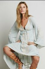 Free People Dreamweaver Embroidered Agave Combo Dress Size Extra Small $168