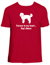 Goldendoodle Dog Forever in my heart T-shirt or Pillow (S) w name