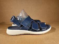 WOMEN ECCO DANISH DESIGNED STRAPPY Blue Leaather SANDALS SIZE 37 / US 6 6.5