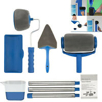 8Pcs Paint Roller Brush Set Runner Handle Household Wall Room Painting Tool Kit